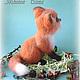 лис,лисенок,валяная игрушка,рыжий лис,скульптура из шерсти,подарок женщине,подарок девушке,подарок коллекционеру