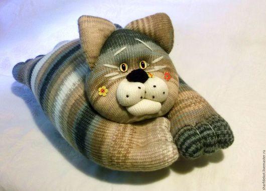 """Текстиль, ковры ручной работы. Ярмарка Мастеров - ручная работа. Купить Котоподуха-обнимуха """"Коржик"""" (для Гали). Handmade."""