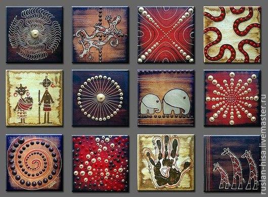 Этно ручной работы. Ярмарка Мастеров - ручная работа. Купить ЭтноАфрика. Handmade. Коричневый, картина маслом
