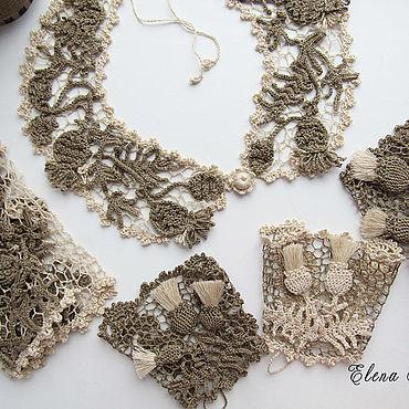 Аксессуары handmade. Livemaster - original item Irish lace.Set of flax