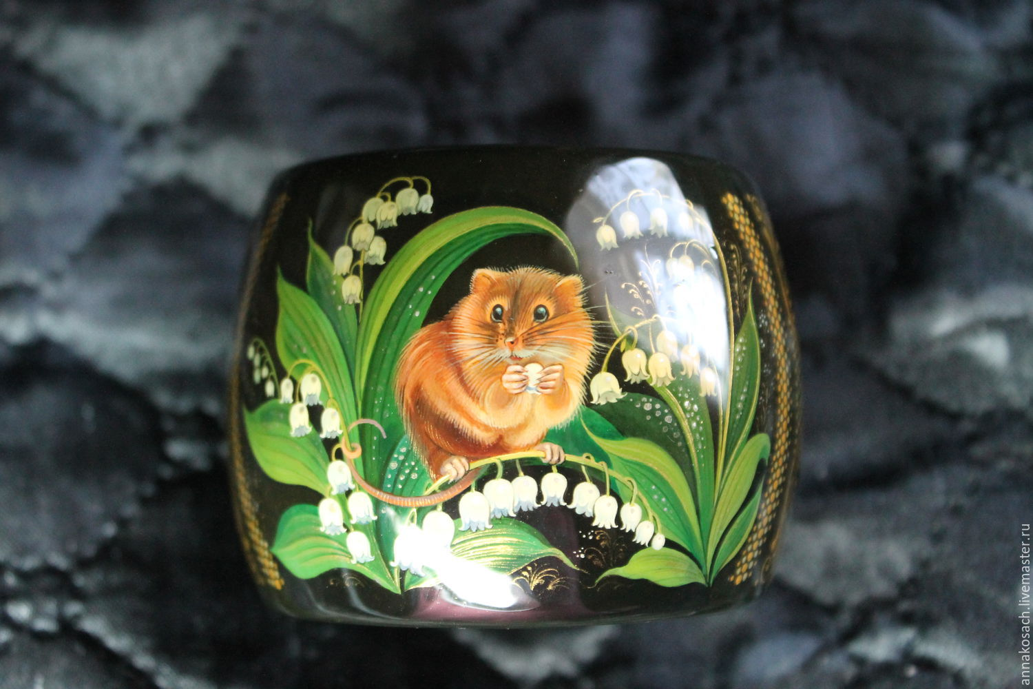 bracelet with the author's painting 'field Mouse', Bead bracelet, Sizran,  Фото №1