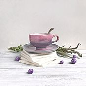 """Чайные пары ручной работы. Ярмарка Мастеров - ручная работа Чайная пара """"туман"""". Handmade."""