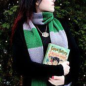 Аксессуары handmade. Livemaster - original item Scarf knitted scarf Slytherin Draco Malfoy. Handmade.