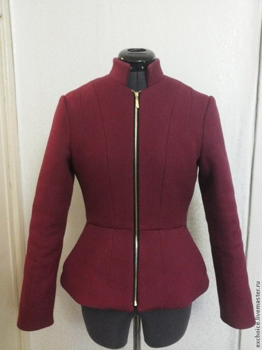 Верхняя одежда ручной работы. Ярмарка Мастеров - ручная работа. Купить Короткое пальто. Handmade. Бордовый, короткое пальто