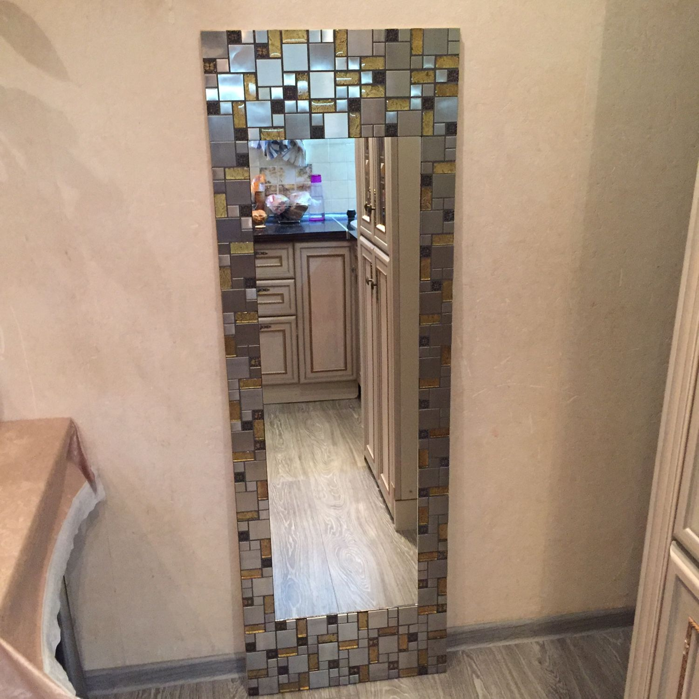 "Большое зеркало в мозаике ""Платина"""