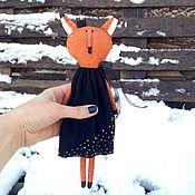 """Куклы и игрушки ручной работы. Ярмарка Мастеров - ручная работа """"Лисица в чёрном"""" Интерьерная кукла. Handmade."""