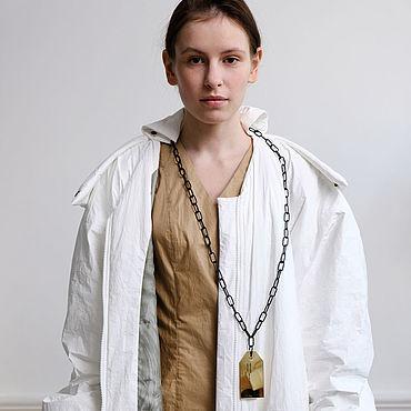Одежда ручной работы. Ярмарка Мастеров - ручная работа Бомбер-куртка удлиненного силуэта на тонком био-пухе. Handmade.