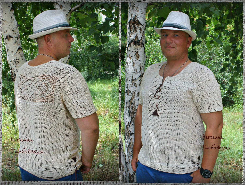 Shirt'Summer wind', in ethnic style, Mens shirts, Orenburg,  Фото №1