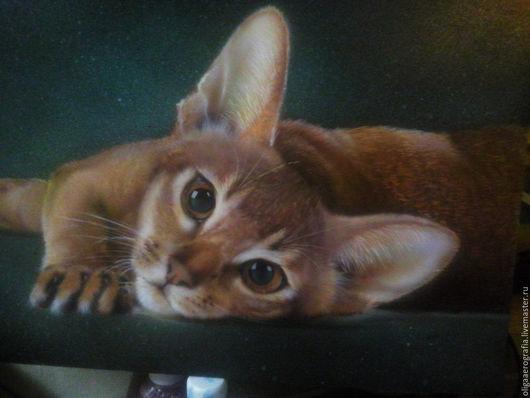Животные ручной работы. Ярмарка Мастеров - ручная работа. Купить абиссинский кот. Handmade. Тёмно-зелёный, на каждый день