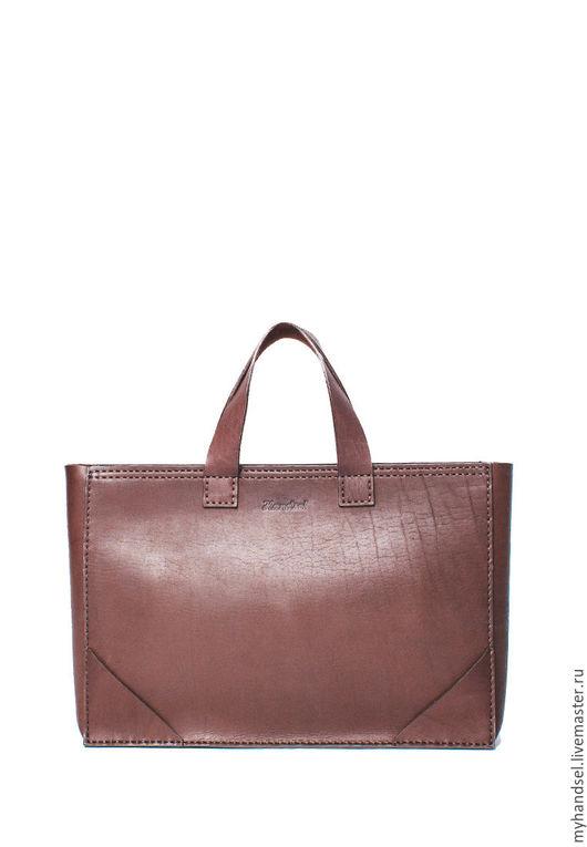 Мужские сумки ручной работы. Ярмарка Мастеров - ручная работа. Купить Деловая сумка на молнии. Handmade. Коричневый, сумка для документов