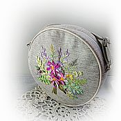 Сумки и аксессуары handmade. Livemaster - original item Handmade round bag with embroidery. Handmade.