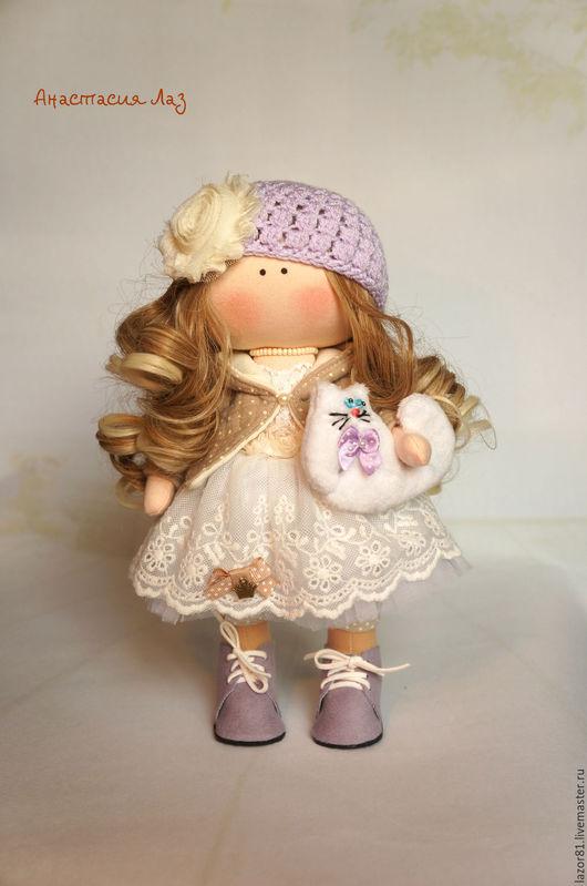 Коллекционные куклы ручной работы. Ярмарка Мастеров - ручная работа. Купить Сиреневая Крошка. Handmade. Сиреневый, для девочки, кукла в подарок