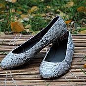 Обувь ручной работы handmade. Livemaster - original item Ballet shoes made from Python natural. Lining leather. Handmade.