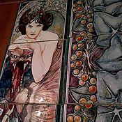 Картины и панно ручной работы. Ярмарка Мастеров - ручная работа Керамическое панно ручной работы Изумруд. Handmade.