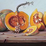 Картины и панно ручной работы. Ярмарка Мастеров - ручная работа Картина пастелью Тыквы. Handmade.