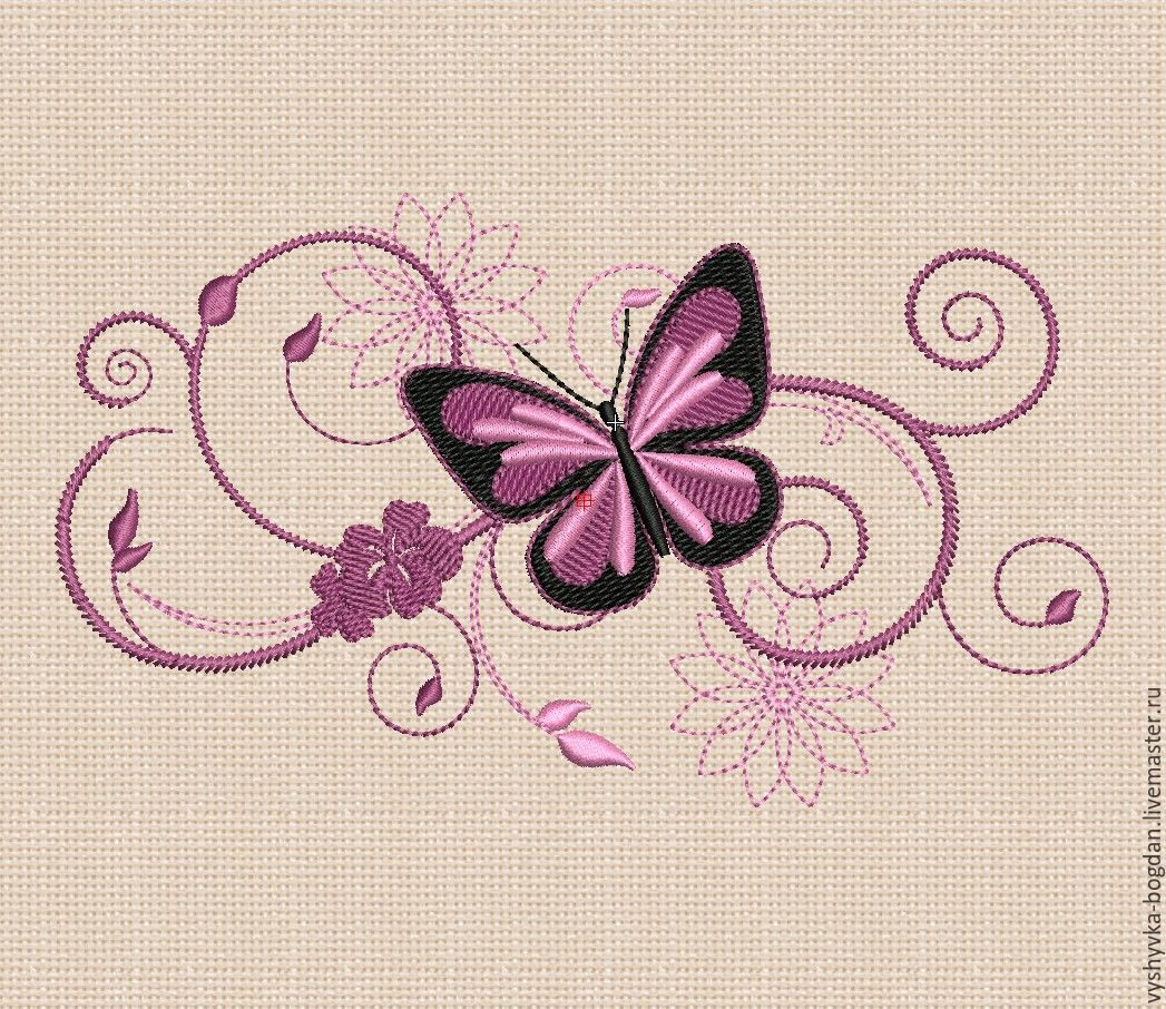 Machine Embroidery Design Butterfly bt019. Embroidery for hoops 180 x 130 mm.