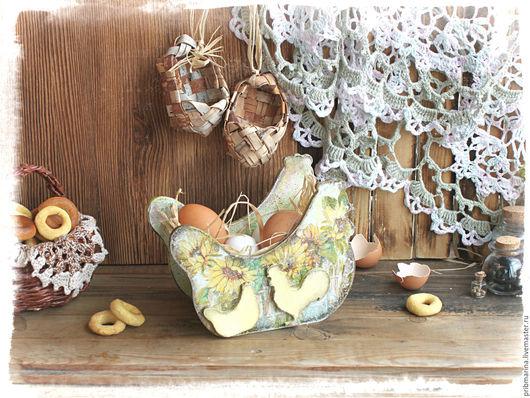 """Кухня ручной работы. Ярмарка Мастеров - ручная работа. Купить Конфетница-сухарница """"В подсолнухах"""". Handmade. Комбинированный, конфетница, подарок"""