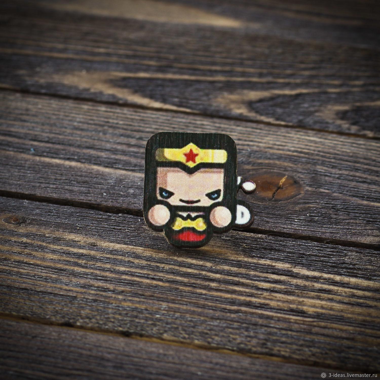 Wooden icon Wonder Woman, Badge, Volzhsky,  Фото №1
