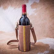Сумки и аксессуары ручной работы. Ярмарка Мастеров - ручная работа Сумка для бутылки вина. Handmade.
