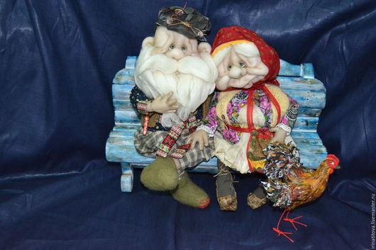 Коллекционные куклы ручной работы. Ярмарка Мастеров - ручная работа. Купить Жили - были.. Handmade. Комбинированный, дед, пасхальный подарок