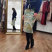 """Одежда ручной работы. Ярмарка Мастеров - ручная работа Юбка карандаш из шерсти """"Восточная сказка"""" зеленая, шерстяная юбка. Handmade."""