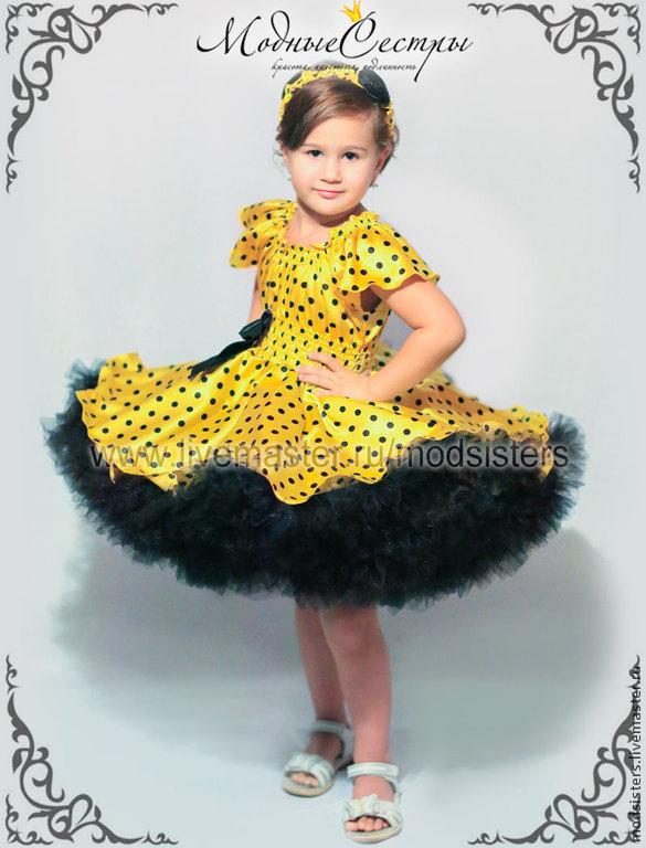Платье стиляги желтое фото