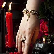 """Субкультуры ручной работы. Ярмарка Мастеров - ручная работа Комплект """"Eidolon"""": колье, серьги и браслет с шестеренками. Handmade."""