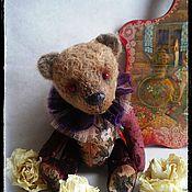 Куклы и игрушки ручной работы. Ярмарка Мастеров - ручная работа Мишка тедди фантазийный из коричневого плюша антик Филл. Handmade.