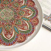 """Тарелки ручной работы. Ярмарка Мастеров - ручная работа """"Парча"""" коллекционная тарелка в восточном стиле бронза медь. Handmade."""