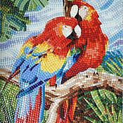 Картины и панно handmade. Livemaster - original item parrots. Panels of the mosaic. Handmade.