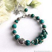 Украшения handmade. Livemaster - original item Bracelet with natural amazonite and turquoise