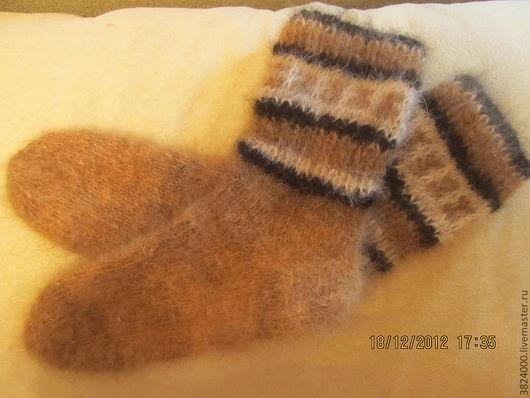 Носки, Чулки ручной работы. Ярмарка Мастеров - ручная работа. Купить носки из собачьей шерсти. Handmade. Коричневый, ручная работа