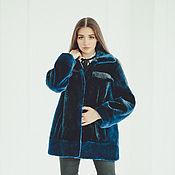 Одежда handmade. Livemaster - original item Beaver fur jacket in blue. Handmade.