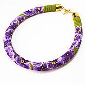 Украшения handmade. Livemaster - original item Harness beaded Viola. Handmade.