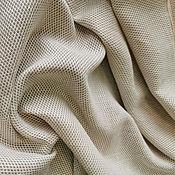 Ткани ручной работы. Ярмарка Мастеров - ручная работа Костюмно- плательный легкий жаккард, цвет бежево-молочный. Handmade.