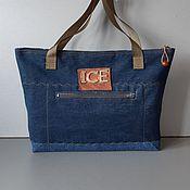 Сумки и аксессуары handmade. Livemaster - original item Tote: ICEBERG Denim Bag. Handmade.