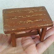 Куклы и игрушки handmade. Livemaster - original item Furniture for dolls - Country style table for miniature dollhouse. Handmade.