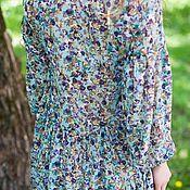 Одежда handmade. Livemaster - original item dresses: Shirt dress with Forget-me-not ruffles. Handmade.