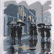 Картины и панно ручной работы. Ярмарка Мастеров - ручная работа Дождь...Ночь...лампионы.... Handmade.