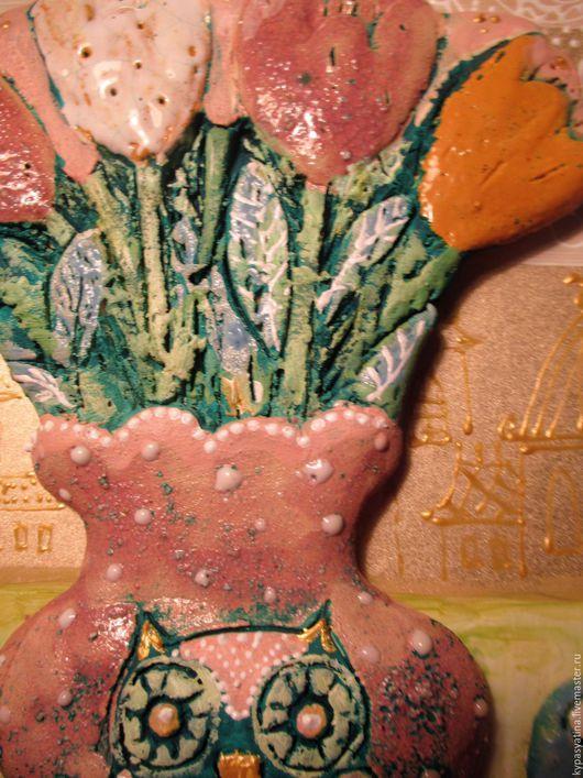 Натюрморт ручной работы. Ярмарка Мастеров - ручная работа. Купить Натюрморт с совой. Handmade. Бежевый, картина для девушки
