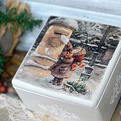 Для дома и интерьера handmade. Livemaster - original item Casket letter to Santa Claus decoupage children. Handmade.