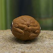 Украшения handmade. Livemaster - original item Hamster ojime bead. Handmade.