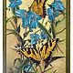 """Картины цветов ручной работы. Ярмарка Мастеров - ручная работа. Купить """"Бабочки и цветы"""" картина ручной росписи по ткани. Handmade."""