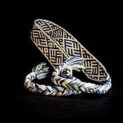 Русский стиль ручной работы. Ярмарка Мастеров - ручная работа Очелье Небесный крест трехцветие. Handmade.