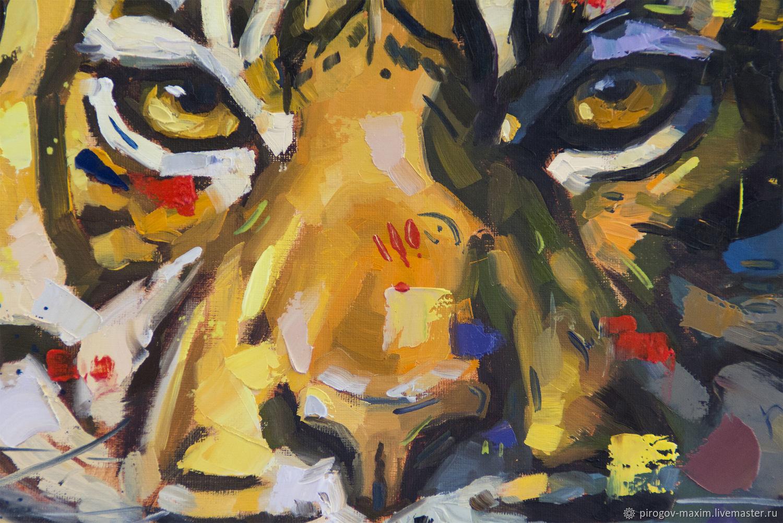 Картина маслом тигр. Картина. Купить картину маслом. Картины