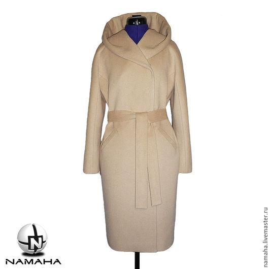 Верхняя одежда ручной работы. Ярмарка Мастеров - ручная работа. Купить Пальто бежевое с капюшоном, пальто демисезонное, пальто женское ПАЛЬТО. Handmade.