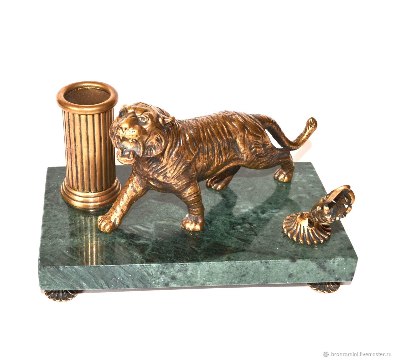 Комплект тигр + подставка под карандаши и подставка под ручку, Линейки, Кисловодск,  Фото №1
