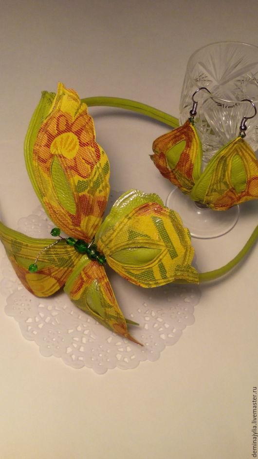 подарок на день рождения, ободок с бабочками