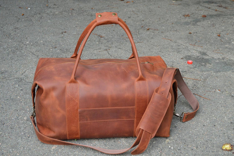 e7ccbf3a39fb Спортивные сумки ручной работы. Ярмарка Мастеров - ручная работа. Купить  Коричневая спортивная сумка из ...