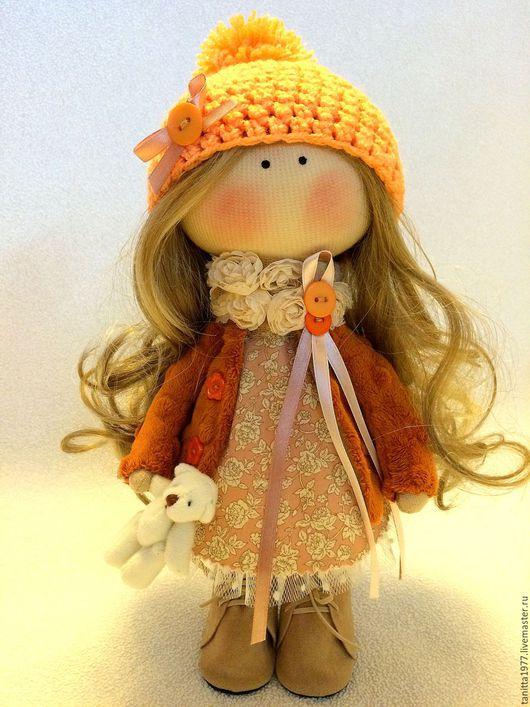 Человечки ручной работы. Ярмарка Мастеров - ручная работа. Купить Текстильная кукла. Handmade. Рыжий, текстильная кукла, кукла
